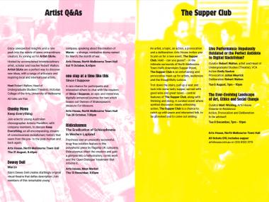 Arts House Season 2 Brochure Page
